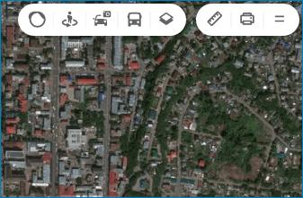 Город со спутника Yandex