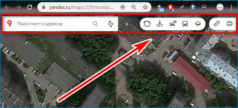 Интерфейс карт Yandex