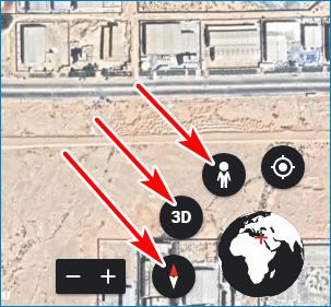 Изменить режим Google Earth