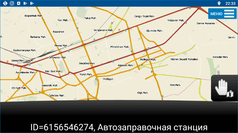 Карта MapFactor