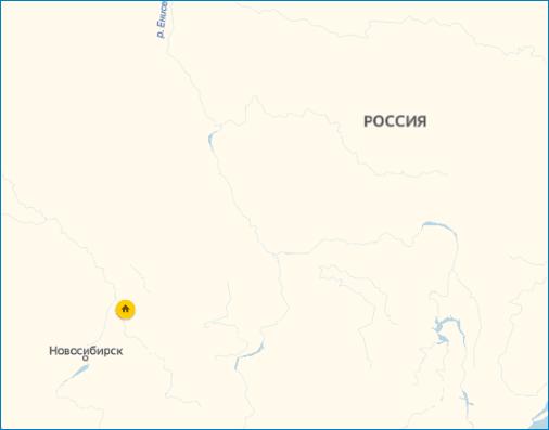 Карта навигатора Yandex