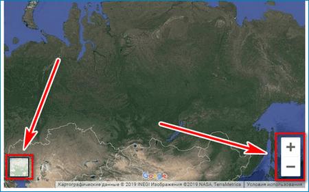 КлавиКлавиши на карте Satelite mapsши на карте Satelite maps