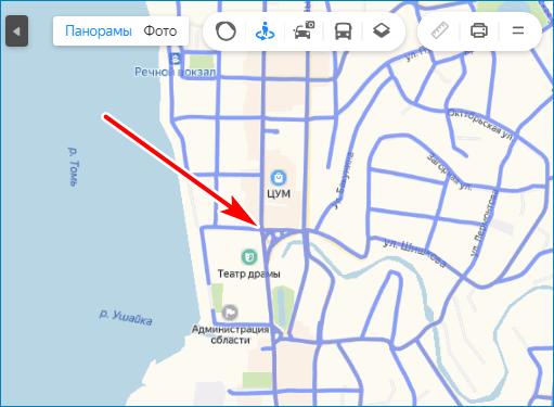 Кликните по карте Yandex