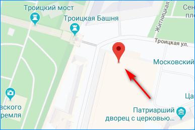 Москва по координатам