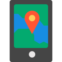 Навигация в смартфоне иконка