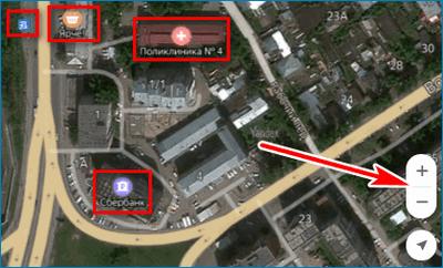 Объекты на карте Yandex