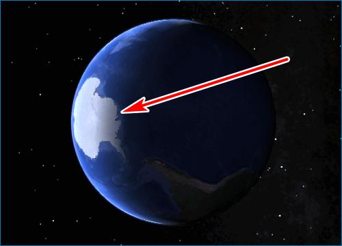 Освещенность планеты Google Earth