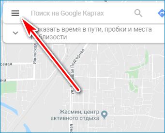 Параметры Google Maps