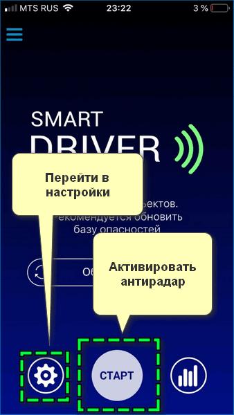 Интерфейс смарт драйве
