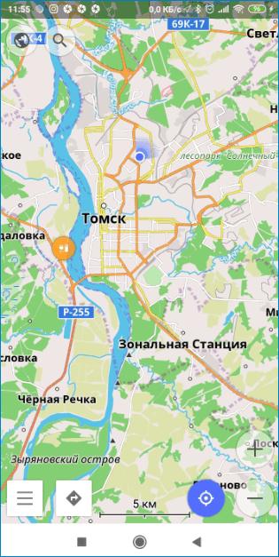 Карта OsmAnd