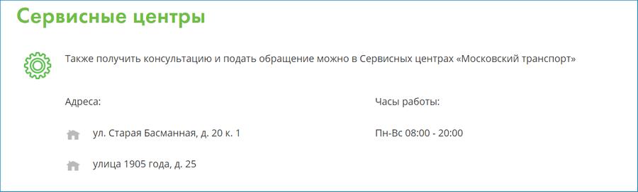 Контакты московского паркинга