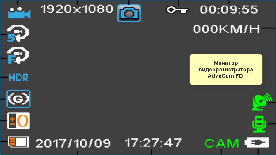 Монитор AdvoCam FD Black II GPS ГЛОНАСС