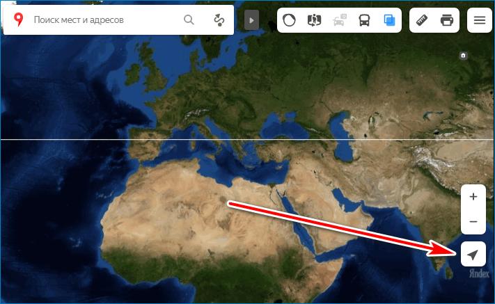 Найти местоположение Yandex