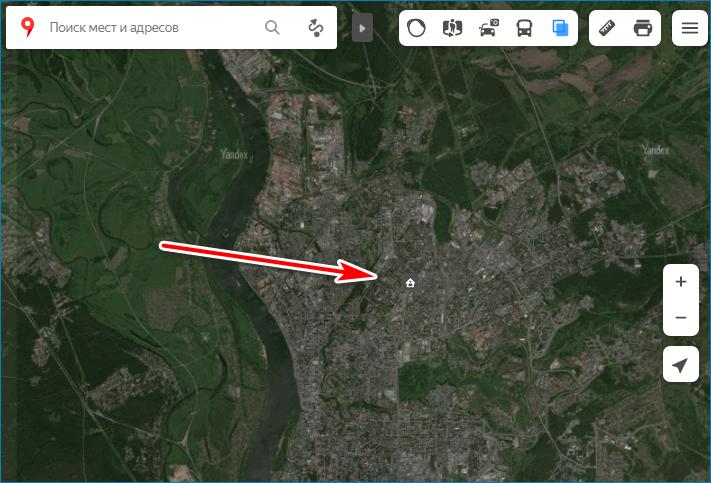 Определение места Yandex