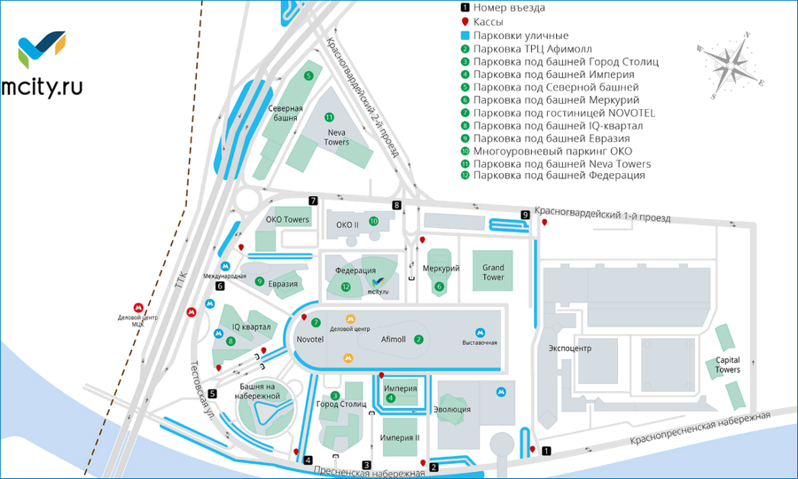 Парковка Москва Сити