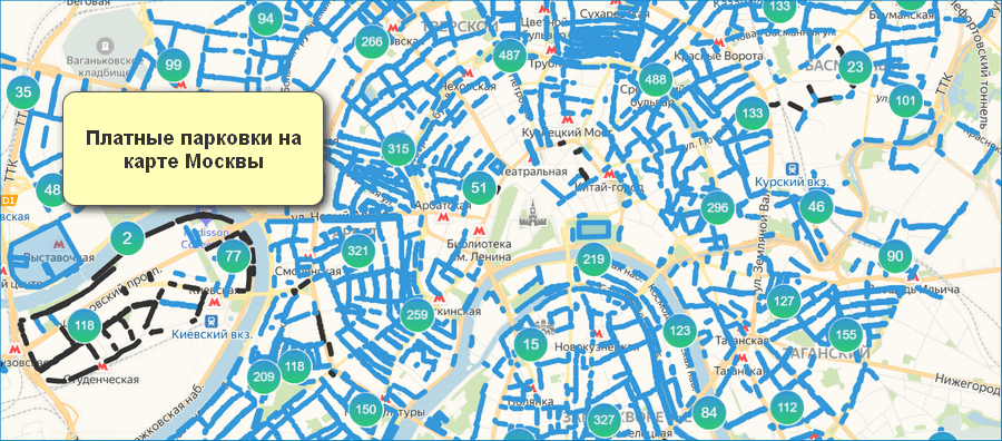 Парковки Москвы на карте