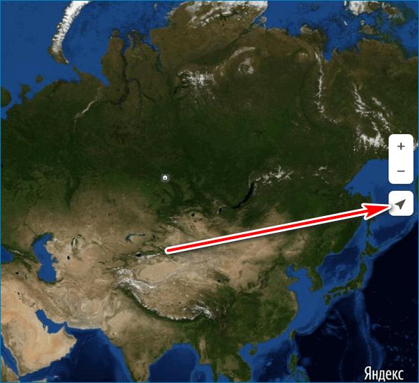 Поиск местоположения Yandex