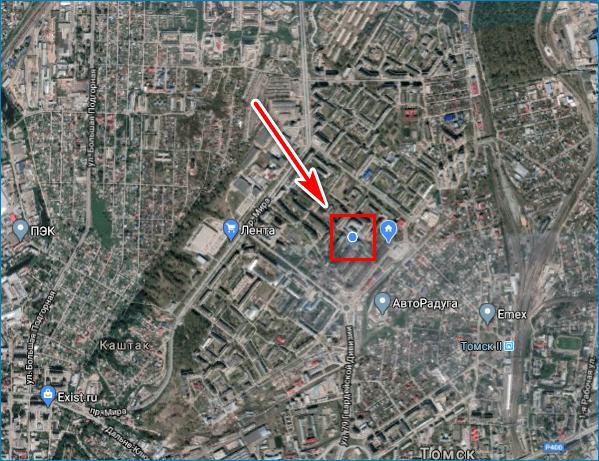 Расположение на карте Google