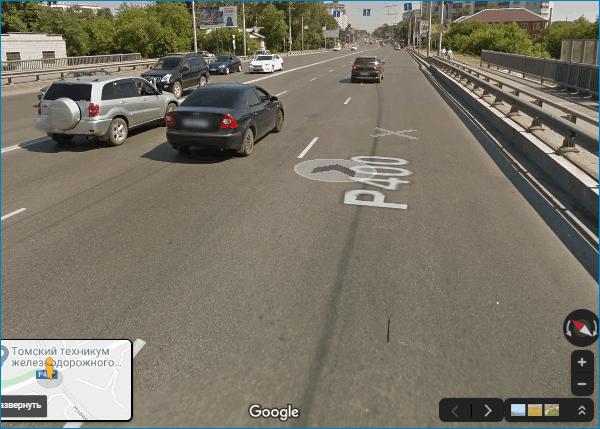Режим просмотра улиц Google